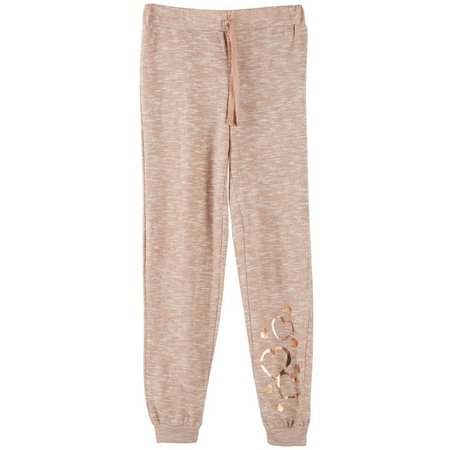 Derek Heart Girl Big Girls Foil Heart Jogger