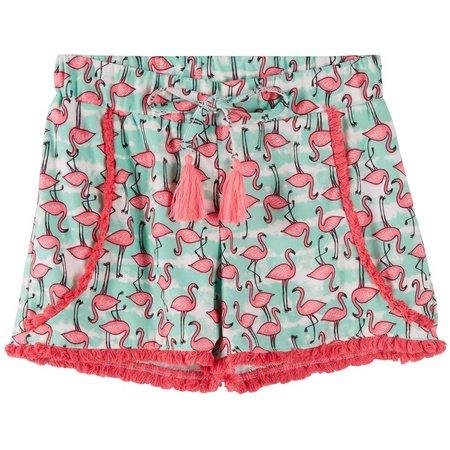 New! Derek Heart Girl Big Girls Flamingo Shorts