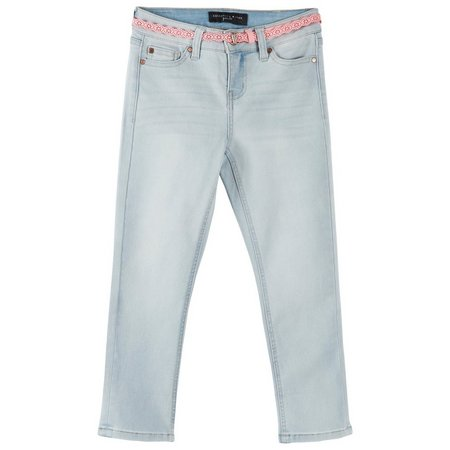 Celebrity Pink Big Girls Belted Crop Jeans