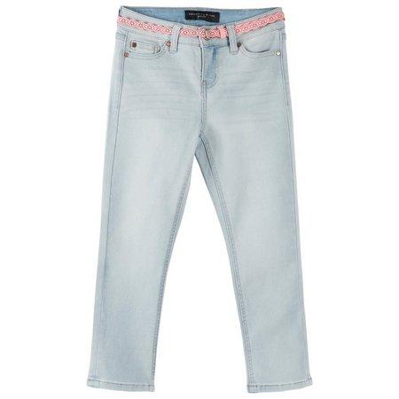Celebrity Pink Big Girls Belted Crop Jeans