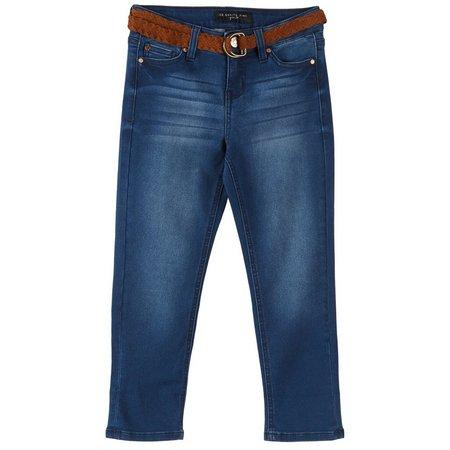 Celebrity Pink Big Girls Belted Crop Denim Jeans