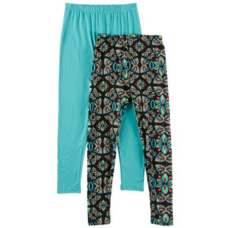 Freestyle Big Girls 2-pk. Solid Butterfly Leggings