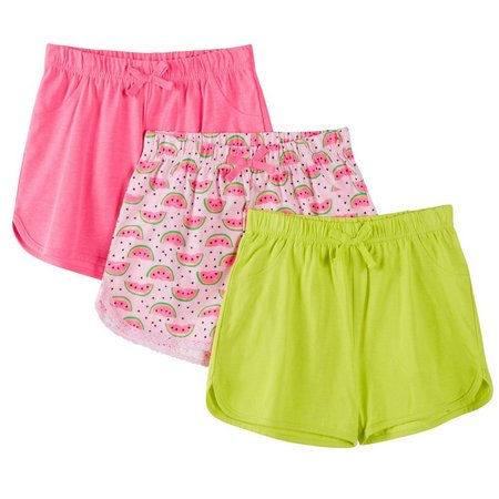 Freestyle Big Girls 3-pk. Watermelon Shorts
