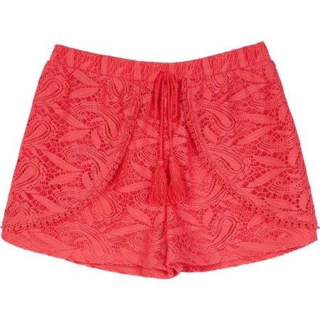 Amy Byer Big Girls Crochet Lace Shorts