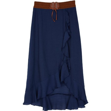 Amy Byer Big Girls Ruffle Gauze Skirt
