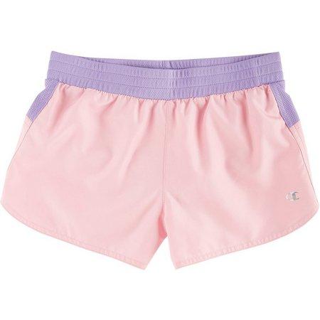 Champion Big Girls Accent Run Shorts