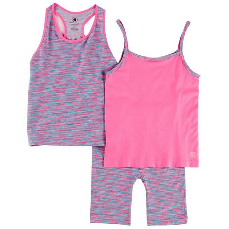 Body Glove Big Girls 3-pc. Bike Shorts Set