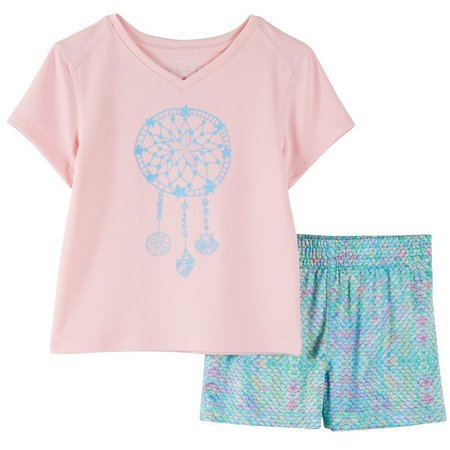 Reel Legends Little Girls Sea Dreams Shorts Set