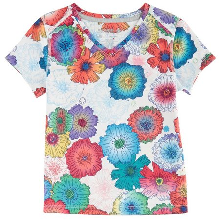 Reel Legends Little Girls Freeline Floral T-Shirt