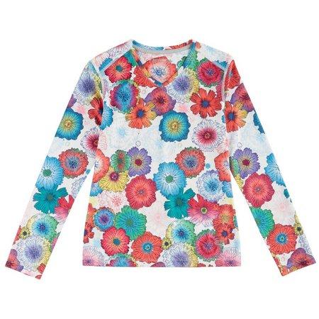 Reel Legends Big Girls Freeline Flower T-Shirt