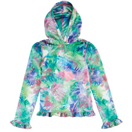 Reel Legends Big Girls Freeline Ruffle Hoodie