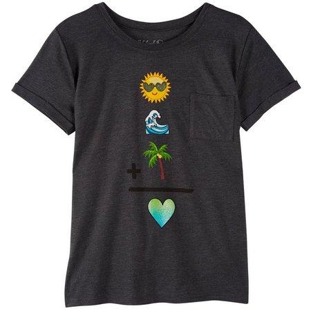 Reel Legends Big Girls Ocean Palm T-Shirt
