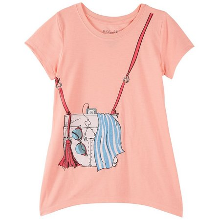 Reel Legends Big Girls Beach Bag T-Shirt
