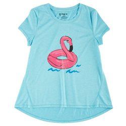 Reel Legends Big Girls Flamingo Float T-Shirt