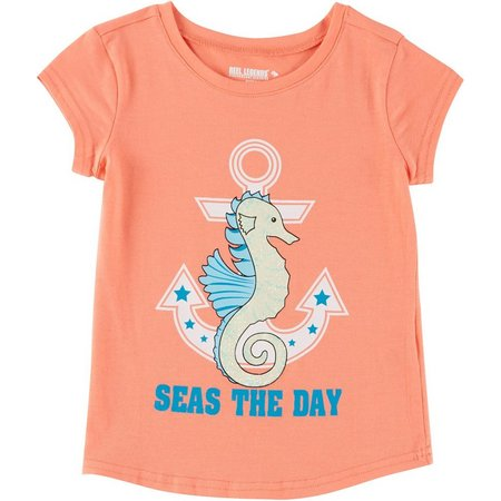 Reel Legends Little Girls Seas The Day T-Shirt