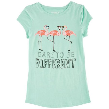 Reel Legends Big Girls Flamingo Graphic T-Shirt