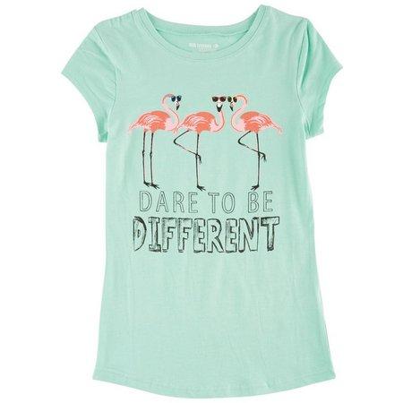 Reel Legends Big Girls Flamingo Graphic T-Shirt