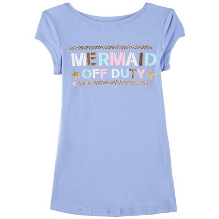 Reel Legends Big Girls Mermaid Off Duty T-Shirt