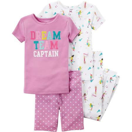 Carters Little Girls 4-pc. Dream Deam Captain Pajama