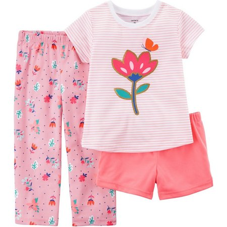 Carters Little Girls 3-pc. Floral Pajama Set