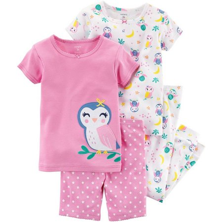 Carters Toddler Girls 4-pc. Owls Pajama Set