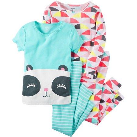 Carters Toddler Girls 4-pc. Happy Panda Pajama Set