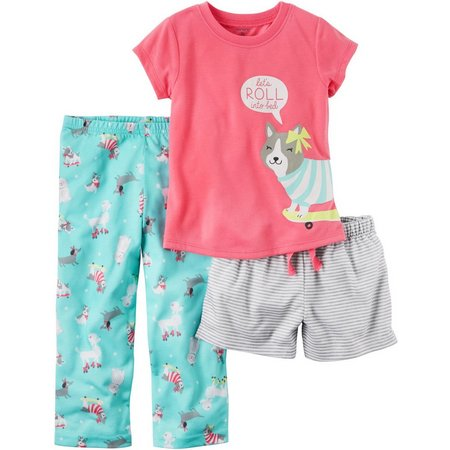 Carters Toddler Girls 3-pc. Let's Roll Pajama Set