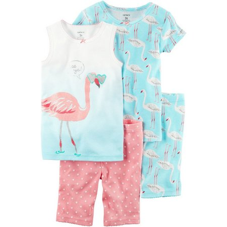 Carters Toddler Girls 4-pc. Flamingo Pajama Set