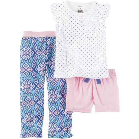 Carters Little Girls 3-pc. Ikat Dot Pajama Set