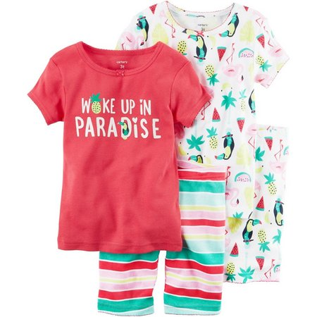 Carters Toddler Girls 4-pc. Paradise Pajama Set
