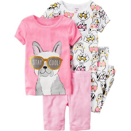 Carters Little Girls 4-pc. Stay Cool Pajama Set