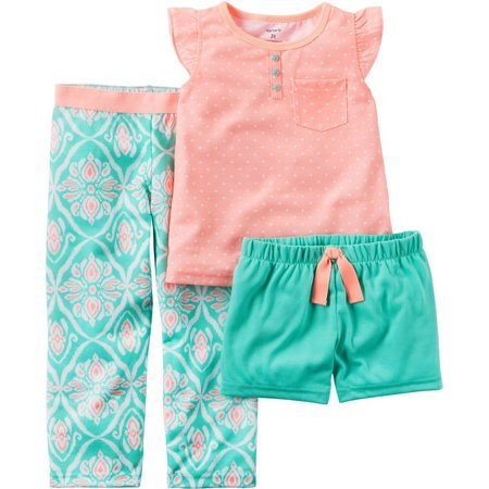 Carters Little Girls 3-pc. Polka Dot Pajama Set