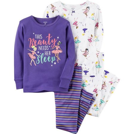 Carters Little Girls 4-pc. Ballerina Pajama Set