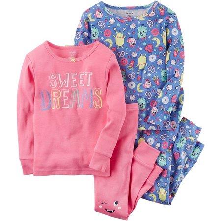 Carters Little Girls 4-pc. Sweet Dreams Pajama Set