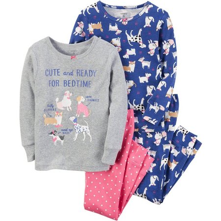 Carters Little Girls 4-pc. Ready For Bedtime Dog