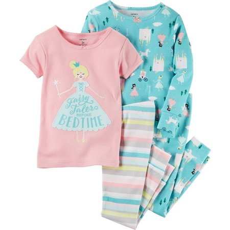 Carters Little Girls 4-pc. Fairy Tales Pajama Set