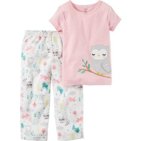 Carters Toddler Girls Forest Animals Pajama Set