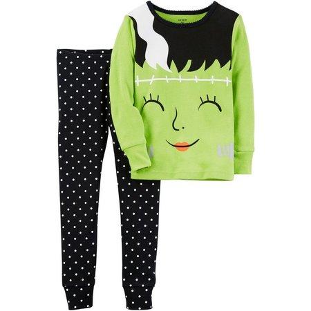 Carters Toddler Girls Glow Frankenstein Pajama Set