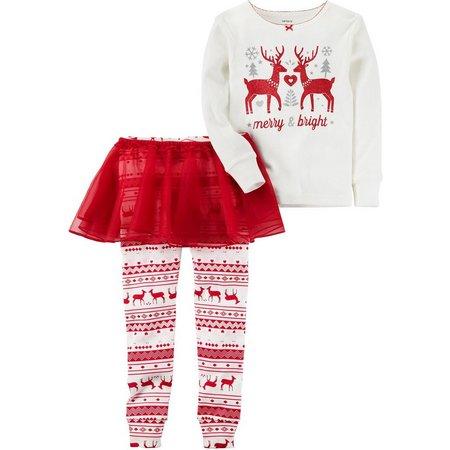 Carters Toddler Girls Merry & Bright Pajama Set