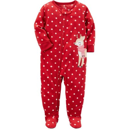 Carters Toddler Girls Reindeer Sleep & Play