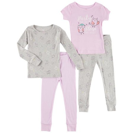 Carters Toddler Girls 4-pc. Glow Party Owl Pajama