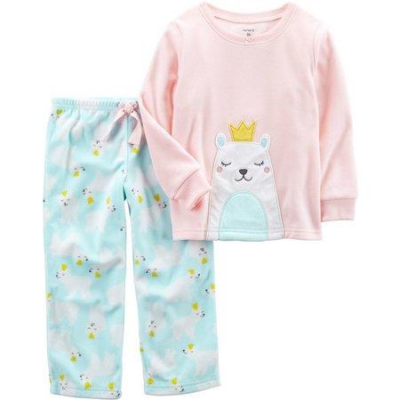 Carters Toddler Girls Polar Bear Pajama Set