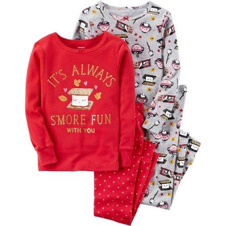 Carters Toddler Girls 4-pc. S'more Fun Pajama Set