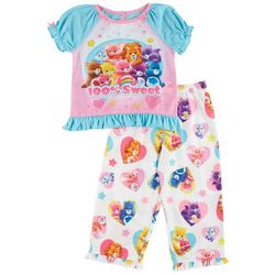 New! Care Bears Toddler Girls Sweet Pajama Set