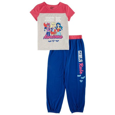 DC Super Hero Girls Big Girls Pajama Set