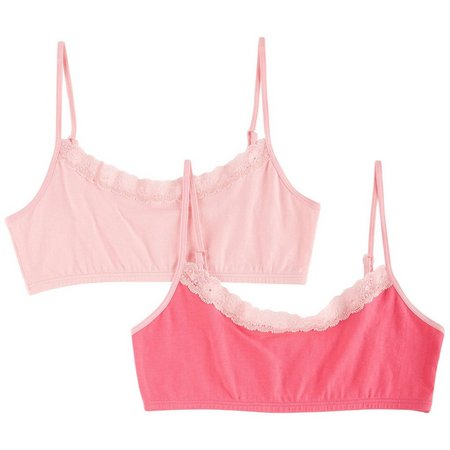 C&C California Little Girls 2-pk. Harper Bralette