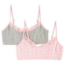 C&C California Little Girls 2-pk. Harper Bralettes