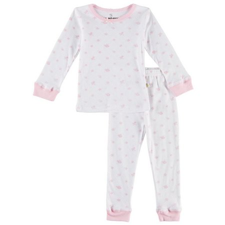 Duck Duck Goose Toddler Girls Rose Pajama Set