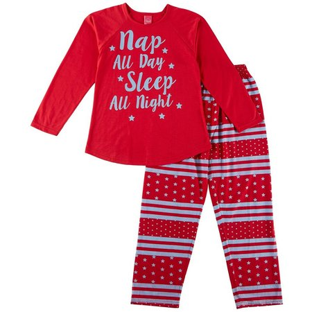 HPI Apparel Big Girls Nap All Night Stripe