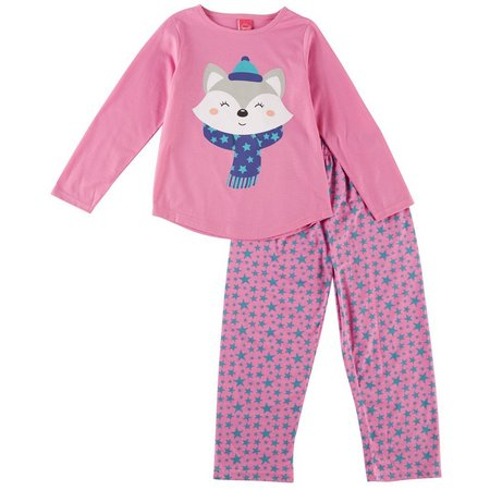 HPI Apparel Little Girls Raccoon Star Pajama Set